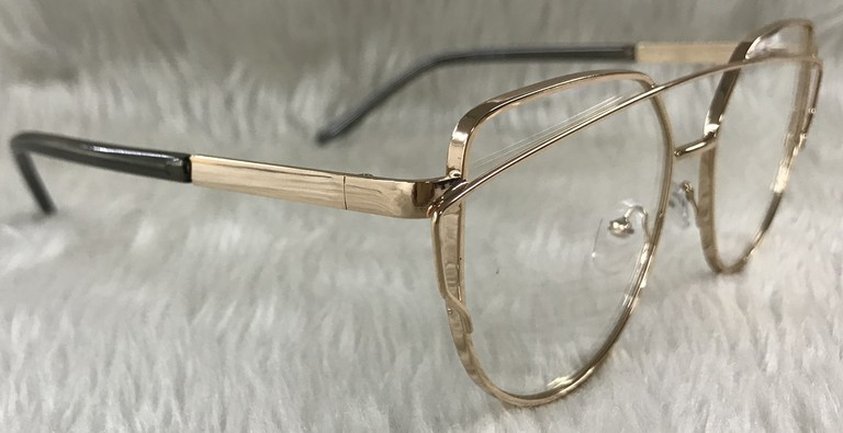 0092155556 Lentes estilo ray ban dorado transparente cat eye armazón de metal jpg  768x395 Lentes armazon