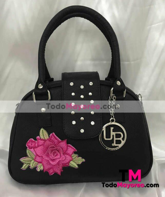 A Rosa Mayoreo · Flor Gonzalez Bolsa Mano De Estampada La Negra Moda B125 Andrea wvS0YqFCw